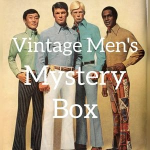 Vintage Mens Mystery Reseller Clothing Box XS-2XL